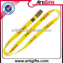 Yellow color nylon neck lanyard decorations